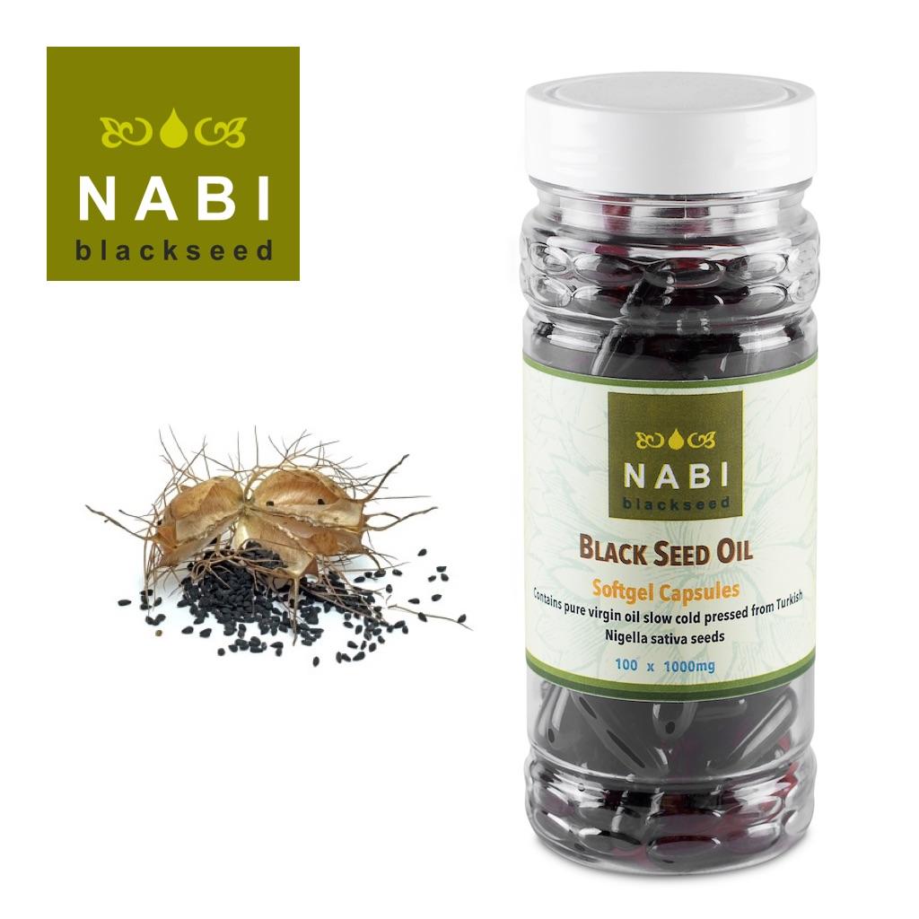 Black seed oil capsules 100 x 1000mg. Nigella sativa. Halal gelatine capsule.